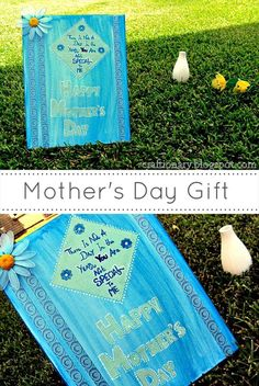 DIY Tutorial DIY mother's day gifts / DIY Paint and decoupage canvas Mother's Day - Bead&Cord Diy Mother's Day Crafts, Diy And Crafts Sewing, Mother's Day Diy, Crafts For Teens, Easy Canvas Painting, Diy Painting, Canvas Canvas, Brown Canvas, Easy Paintings