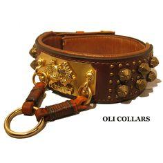 ANTICUUS DOG COLLAR (Roman dog Collar)(Oli Collars)