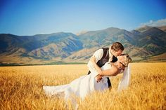 Sharing a kiss under the big sky! #MontanaWedding ! Notarious Photography
