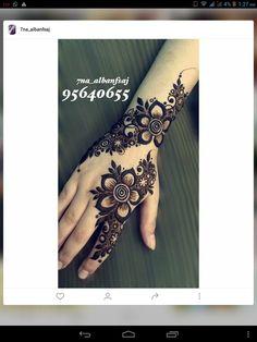flowery henna design | mehndi on hand | eid