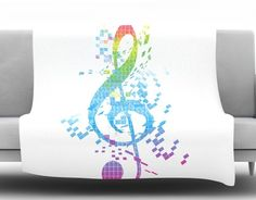 Rainbow Key by Frederic Levy-Hadida Fleece Throw Blanket