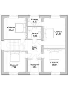 Проект дома C-223 - Проекты домов и коттеджей в Москве Duplex House Plans, My House Plans, Small House Plans, Office Layout Plan, Square House Plans, Two Bedroom House, Medical Office Design, Model House Plan, Layout Design