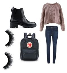 """""""School"""" by simone-xxii ❤ liked on Polyvore featuring Fjällräven, Cheap Monday, RED Valentino, women's clothing, women, female, woman, misses and juniors"""