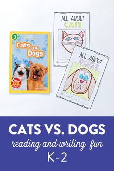 Looking for some fun, new reading and writing activities to use with your first and second grade students?! They love reading these two books about cats and dogs and write their opinions using factual information to decide which is better! Download the preview to check it out!   #firstgradereading #firstgradewriting #firstgradeactivities