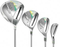 The Kalea golf clubs from TaylorMade are the company's first full line of women's clubs. Here's a look at the equipment and available set configurations. *** Find out more at the image link. Ladies Golf Clubs, Best Golf Clubs, Girls Golf, Adidas Superstar, Yeezy, Golf Handicap, Golf Club Sets, Golf Putting, Putting Tips