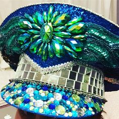 "189 Likes, 23 Comments - Lunar Disco Designs ✨✨ (@lunar.disco) on Instagram: ""Preview of the ""Intergalactic Mermaid"" hat I made for LA Decompression today! It's ridiculously…"""