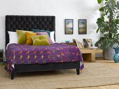 Valentin super king size bed in cotton matt velvet 'Elephant' £1,095  http://www.sofa.com/shop/beds/upholstered-beds/valentin#240-CMVELE-0-0