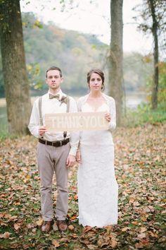 Woodland Rustic Wedding Couple