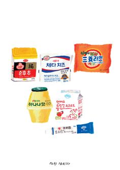 beautiful korean products illustration by moreparsley moreparsley.com Aesthetic Drawing, Aesthetic Anime, Cute Drawings, Animal Drawings, Korean Painting, Korean Products, Food Painting, Aesthetic Stickers, Korean Art