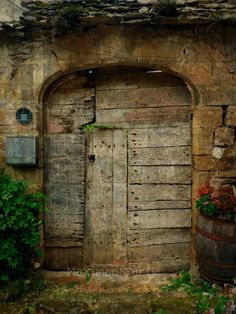 Door To the Secret Garden  Old Door Fine Art by Maximonstertje, €21.63