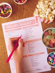 Download you free voting ballot for the Oscars tonight on My Life in Pink. Designed by @britneybeeby :)  #Oscars2015 #votingballot #popcorn #party #mylifeinpink #beebsblog Oscar Ballot, Voting Ballot, Patricia Arquette, Rosamund Pike, Best Director, Marion Cotillard, Julianne Moore, Reese Witherspoon, Meryl Streep