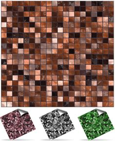 From 30 Copper Brown (not Metalic Colour)- Printed In Kitchen / Bathroom Tile Stickers For - 6 Inch) Square Tiles Directly From: Tile Style Decals No Middleman (full Pack Of Bathroom Tile Stickers, Mosaic Tile Stickers, Tile Decals, Mosaic Wall Tiles, Bathroom Stuff, Stick On Wall Tiles, Peel And Stick Tile, Tile Transfers, Kitchen On A Budget