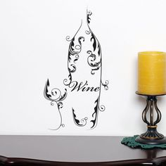 Awesome Wine Decorative Kitchen Dining Wall Sticker