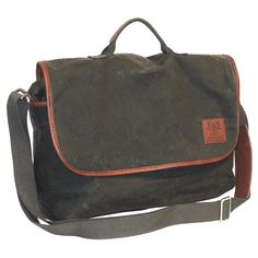 This messenger bag has a sleek and sophisticated look. It would be great to use as a school or travel bag, or make a great business-casual bag. The shoulder strap is adjustable and can be worn cross body.
