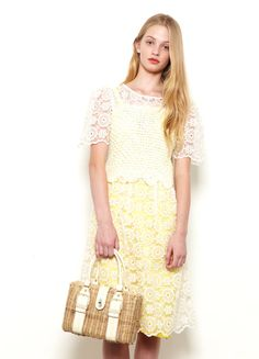 LOUISE LOVE DRESS $399, TOP from Mitchell Road Antique & Design Centre $25, BAG from Zoo Emporium $60