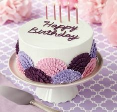 New Cake Decorating Easy Ideas Beautiful Ideas Buttercream Cake Designs, Cake Decorating Frosting, Easy Cake Decorating, Birthday Cake Decorating, Cake Decorating Techniques, Frosting Tips, Decorating Ideas, Buttercream Fondant, Buttercream Flower Cake
