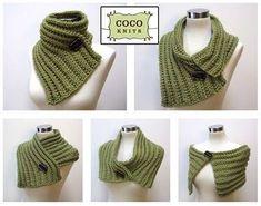 Trendy Ideas For Crochet Free Scarf Patterns Products Crochet Scarves, Crochet Shawl, Crochet Clothes, Easy Crochet, Crochet Stitches, Free Crochet, Knit Crochet, Knit Cowl, Loom Knitting
