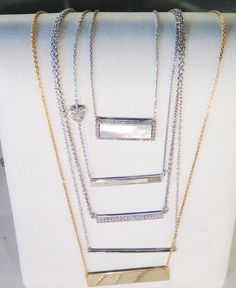 Hip and edgy bar necklaces