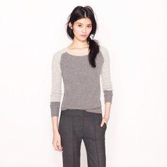 Jcrew waffle colorblock cashmere sweater Super soft and comfy 100% Italian Cashmere knit J. Crew Sweaters Crew & Scoop Necks