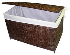 Crafted to fold flat for easy storage, this versatile chest will bring a tropical infused spirit to any decor. Finished in rich walnut, the chest is crafted of woven maize and features a fabric liner, making it perfect for extra linens, seasonal clothing and much, much more. Versatile,... more details available at https://furniture.bestselleroutlets.com/accent-furniture/storage-chests/product-review-for-woven-maize-storage-chest-in-rich-walnut-finish/