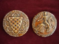 Historic Waxcraft - & The Wieber CollectionName: John de Warenne Title: 7th Earl of Surrey, Lieutenant for Scotland; Type of Seal: obverse & reverse