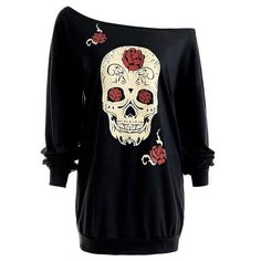 d7b6ee1db45 Plus Size Skull Print Off Shoulder. Tootu Home Clothing Tootu Womens Plus  Size Fashion Long Sleeve Off The Shoulder Prined Causal Tops Blouse