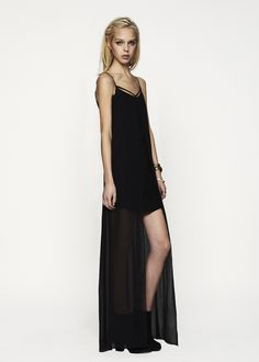 Sydney V-Neck Maxi in Black