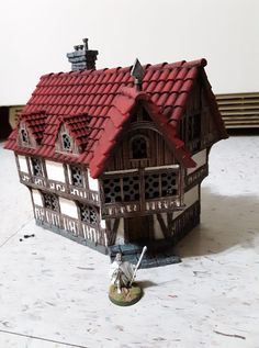 MEDIEVAL INN Print and post process by Joshua Granat #mmu2 #architecture #toysandgames #prusai3
