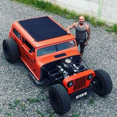You see all sorts of custom Jeep, but I pretty damn sure hot rod isn't in anyone's dream, like ever. Rat Rod Trucks, Jeep Rat Rod, Cj Jeep, Jeep Mods, Jeep 4x4, Gmc Trucks, Diesel Trucks, Pickup Trucks, Jeep Garage