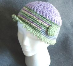 Crocheted Spring Hat by TwistedFiberDesigns on Etsy, $20.00