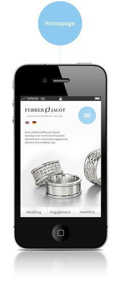 Furrer Jacot - Mobile Website by Nenad Merćep, via Behance