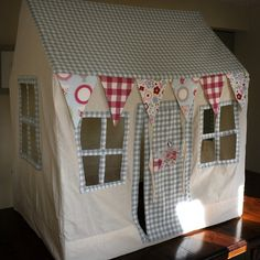 underbed fabric playhouse for kids | Fabric Playhouse/Wendy House 'Teapot Cottage'