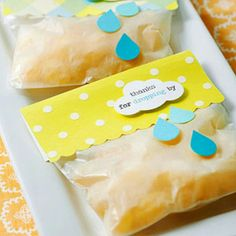 Dropping by baby shower favours