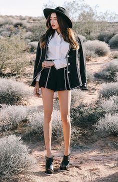 Contrast Aztec Shorts