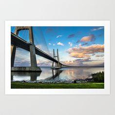 Vasco da Gama Bridge Art Print by Elias Silva Photography - $16.00