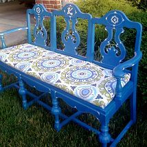 I repurposed three old dining room chairs into a bench for my garden.… :: Hometalk