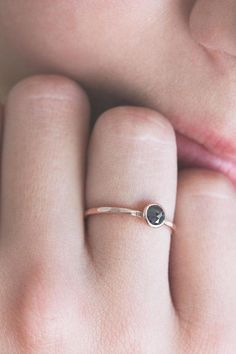 Rose cut black diamond ring, rose gold engagement ring, april birthstone, solid 14k gold ring, alternative engagement, eco friendly, solitaire ~ ~ ~ ~ ~ ~ ~ ~ ~ ~ ~ ~ ~ ~ ~ ~ ~ ~ ~ ~ ~ ~ ~ ~ ~ ~ ~ ~ ~ ~ ~ ~ ~ ~ ~ ~ ~ ~ ~ Light is easy to love. Show me your darkness. ~ R. Queen ~ ~ ~