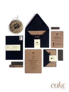 Mariscal   Baum Letterpress Wedding Invitations and Paper Goods