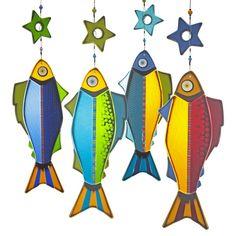 hanging fish art | Hanging Fish