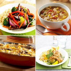 60+ Meal Ideas Ready in 30 Minutes or Less 30 Min Meals, 30 Minute Dinners, Quick Meals, Freezer Meals, Cooking Photos, Cooking Tips, Weght Loss, Meals For One, Creamy Coleslaw