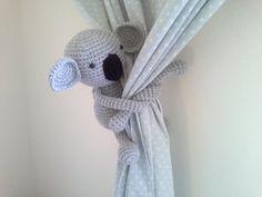 Hey, I found this really awesome Etsy listing at https://www.etsy.com/listing/245637644/koala-curtain-tie-back-crochet-koala