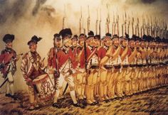 "crazyredcoat: "" 71st Regiment of Foot at the Battle of Camden. """