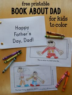 Looking for a homemade Father's day gift idea?  This book about Dad was a big hit at our house! Diy Father's Day Gifts From Toddler, Fathers Day Gifts From Kids Homemade, Fathers Day Pictures, Fathers Day Art, Happy Fathers Day, Fathers Day Crafts, Kid Crafts, Mother Day Gifts, Preschooler Crafts