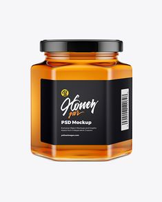 Present your design on this mockup. Simple to change the color of different parts and add your design. Includes special layers and smart objects for your creative works. Box Mockup, Mockup Templates, Honey Packaging, Food Packaging, Honey Jar Labels, Glass Dropper Bottles, Honey Shop, Amber Glass Bottles, Bottle Mockup