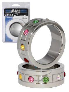 Push Steel - Jewel Edelstahl Cockring, Breite 20mm, Durchmesser: 40mm bis 55mm (45mm)