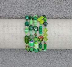 Bracelet gorgeous green small medium memory by SusanRodebushArts, $38.00