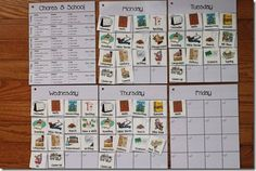 Workbox Weekly Grid Cards - Might just wind up creating more work for me, but we'll see how it works with my little man.