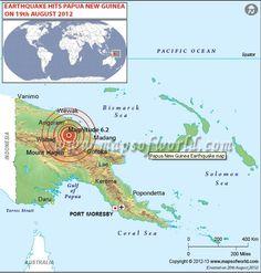 #Earthquake of Magnitude 6.2 hits Papua New Guinea #Map