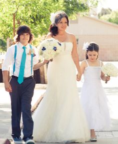 My babies walking me down the aisle.