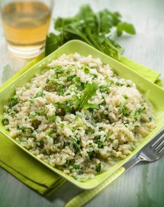 Baked risotto with arugula (FIVE INGREDIENTS!)     |     Save and organize favourites on your iPhone or iPad with @RecipeTin – without typing them in! Find out more here: www.recipetinapp.com      #recipes